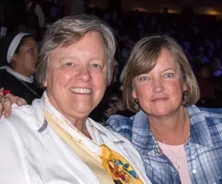 Sr. Karen (left) with Anne Hennelly, Assistant Administrator of Mount Saint Vincent Convent