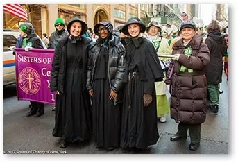 Sisters of Charity March in St. Patrick's Day Parades