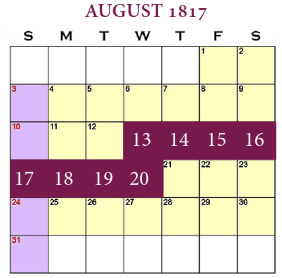 August 13 to 20, 1817
