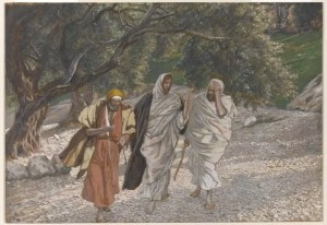 James Tissot (French, 1836-1902). The Pilgrims of Emmaus on the Road (Les pèlerins d'Emmaüs en chemin), 1886–1894.