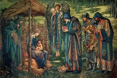 The Star of Bethlehem is a painting in watercolour by Sir Edward Burne-Jones depicting the Adoration of the Magi with an angel holding the star of Bethlehem.