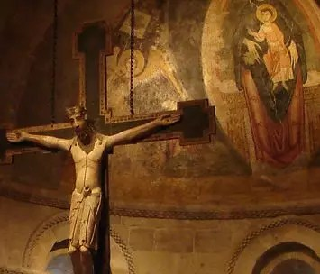 Lent4B Romanesque crucifix Cloisters Rick Morley