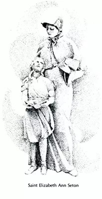 St. Elizabeth with school girl
