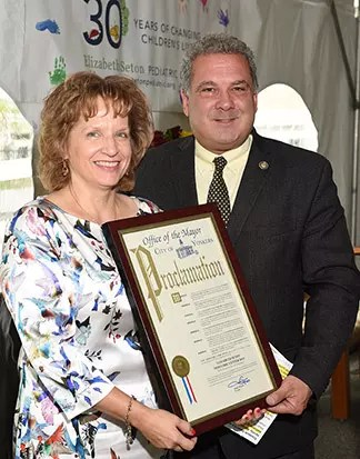 Yonkers Mayor Mike Spano joined CEO Patricia Tursi, Sisters, staff, family, friends, and other elected officials to celebrate the 30th Anniversary of the Elizabeth Seton Pediatric Center.
