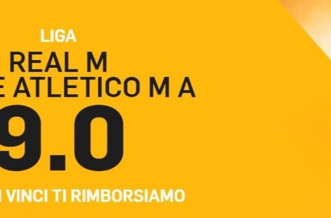 Promo di Betfair per la partita Real Atletico!