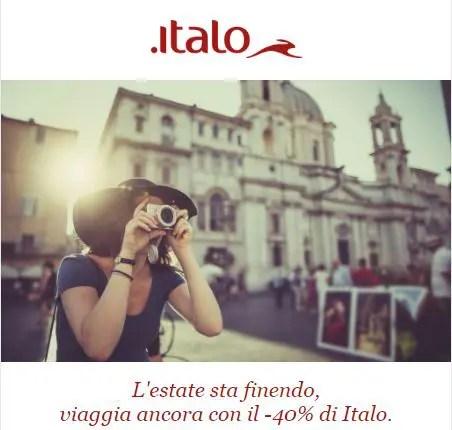 Italo: viaggia con il -40%