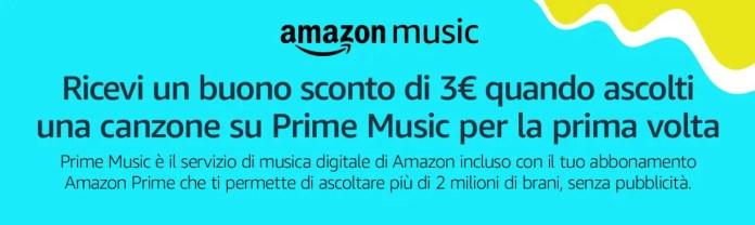 Prime Music: ascolta una canzone e ricevi un buono sconto Amazon di 3€!