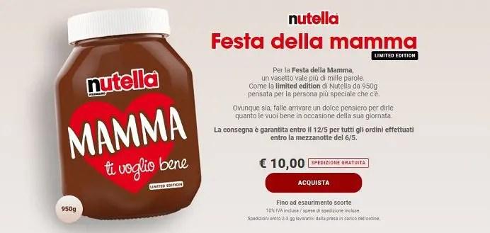 Festa della mamma: Nutella Limited Edition