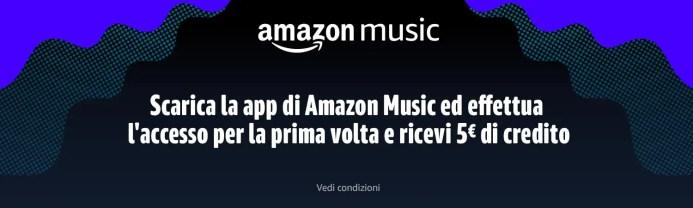 Amazon: ottieni uno sconto di 5€ scaricando l'app di Amazon Music