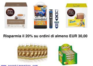 Risparmia il 20% su ordini di almeno EUR 30,00