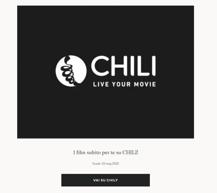 Noleggia gratis un film su Chili con H&M!