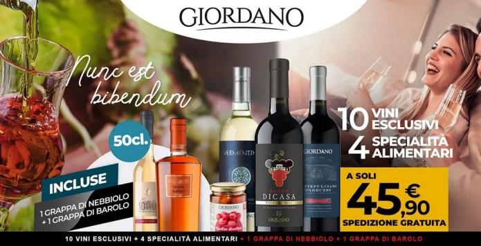 Giordano Vini: 10 vini, 4 specialità e 2 grappe a 45,90€!