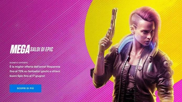 """Epic Games Store: sono arrivati i """"Mega Saldi 2021"""" + giochi gratis + buono da 10€"""