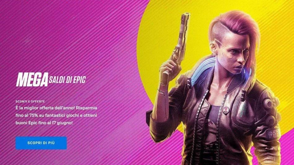 Mega saldi nell'epic games store