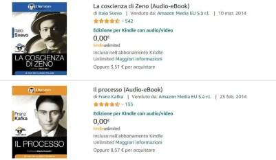 audiolibri inclusi in Kindle Unlimited