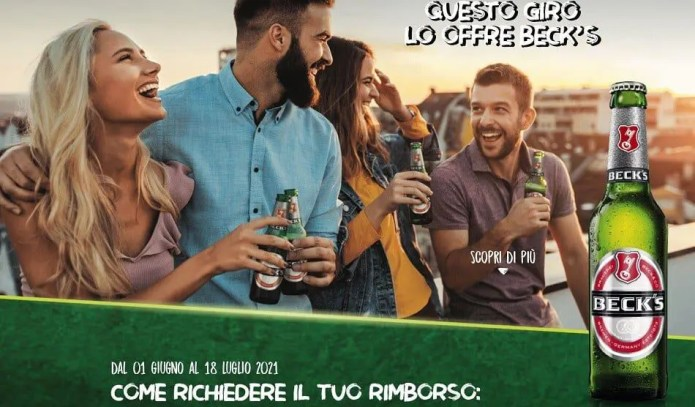 """Operazione cashback """"Alla birra ci pensa Beck's"""": spendi 10 Euro e ricevi il rimborso!"""