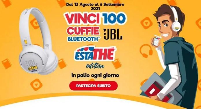 """Concorso """"Estathé Cuffie JBL 2021"""": prova a vincere 2.500 cuffie del noto brand JBL"""