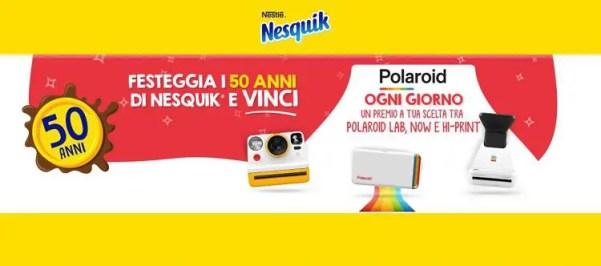Vinci una polaroid al giorno con il concorso Nesquik