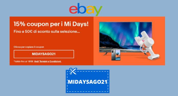 Mi Days: codice sconto Xiaomi del 15%