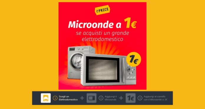 Microonde a 1€ con ePrice