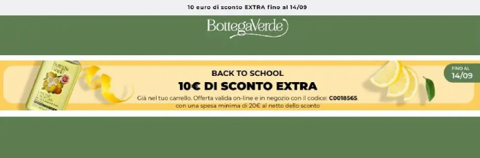 Back To School Bottega Verde