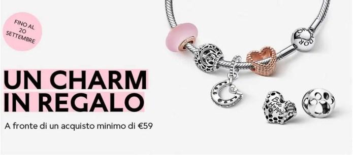 Pandora: ottieni uno charm in regalo con una spesa di 59€