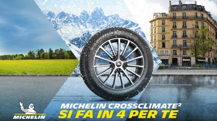 Concorso Michelin: in palio ogni giorno un treno di pneumatici Crossclimate2 GRATIS!