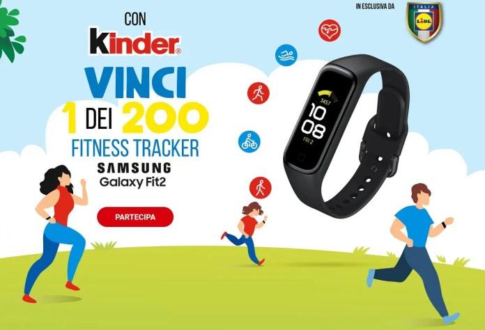 Ferrero e LIDL ti fanno vincere 200 Samsung Galaxy Fit2