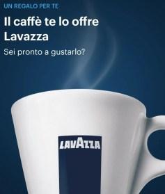 banner presente nella homepage dell'app per ricevere un caffè lavazza in omaggio