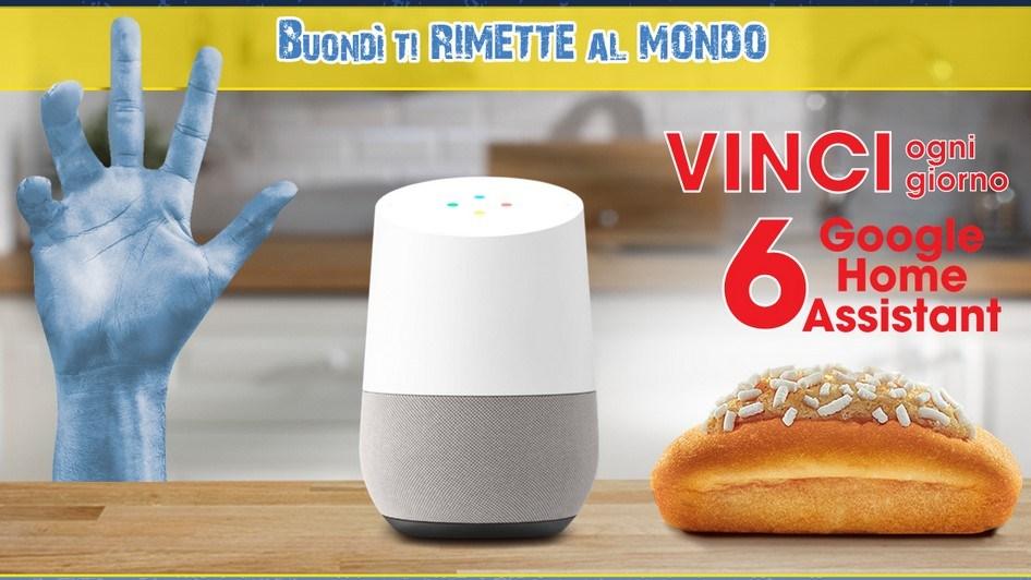 """""""Buondì ti rimette al mondo"""": acquista Buondì e prova a vincere Google Assistant"""
