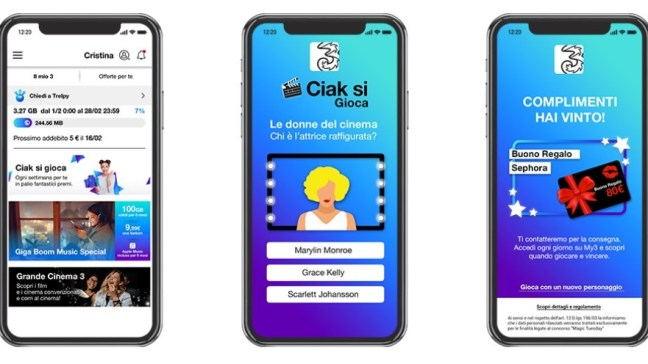 Ciak si gioca Concorso 3 Italia Concorso gratuito Ciak si gioca di Tre Italia: vinci Samsung Galaxy S10, Amazon Echo e tanti altri premi!