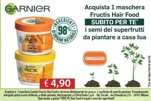 Semi Super frutti Garnier Omaggio Tutti gli omaggi con acquisto di Acqua e Sapone (dal 18 al 31 Marzo 2019)