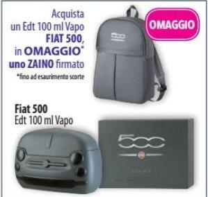 Zaino Fiat 500 in omaggio Tutti gli omaggi con acquisto di Acqua e Sapone (dal 18 al 31 Marzo 2019)