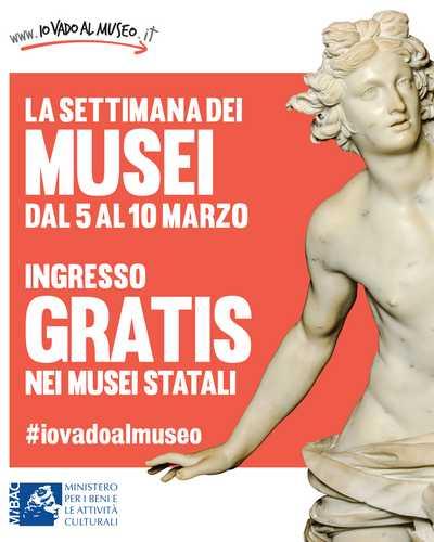 settimana dei musei 2019 #SettimanaDeiMusei: dal 5 al 10 marzo musei gratis per tutti