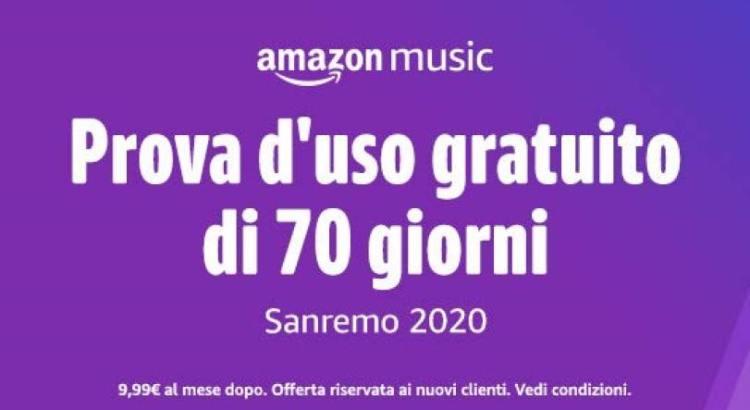 Amazon Music Unlimited gratis per 70 giorni