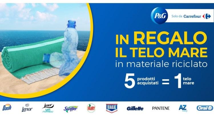 Acquista 5 prodotti P&G e ricevi un telo mare come premio sicuro