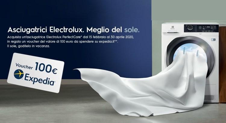 Acquista asciugatrice Electrolux e ricevi voucher Expedia da 100 Euro