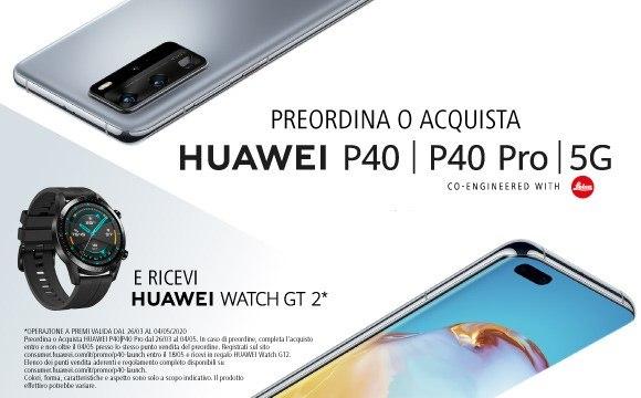 Con Huawei P40 e P40 Pro ricevi in regalo Huawei Watch GT2