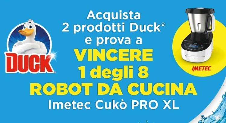 Concorso Duck vinci robot da cucina Cukò PRO XL Imetec