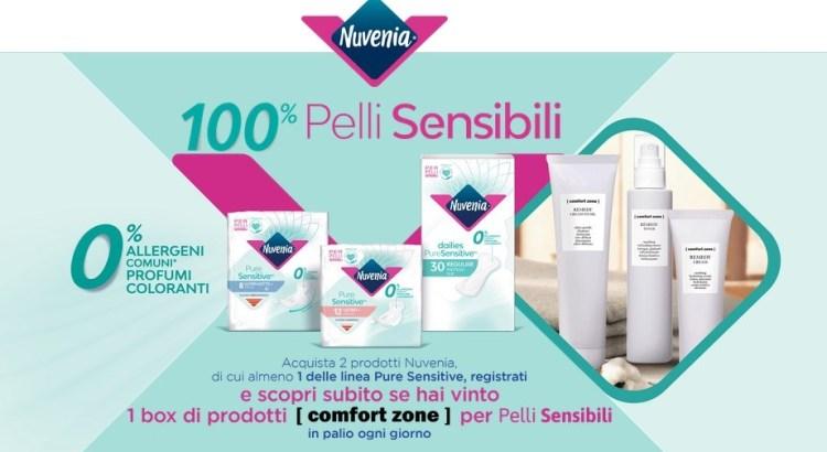 Concorso Nuvenia 100% Pelli Sensibili: vinci 306 box creme Comfort Zone
