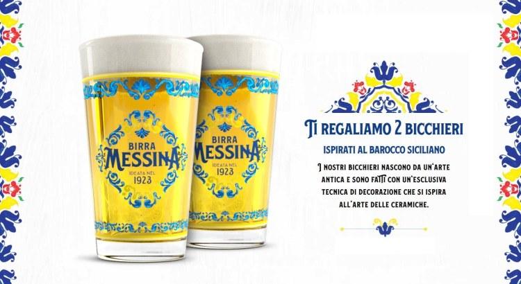 Premio Sicuro Birra Messina Bicchieri Barocco