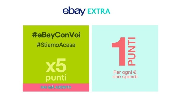 Promozione eBay Extra punti x5