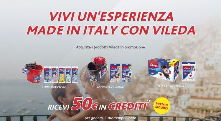 Vivi esperienza Made in Italy con Vileda premio sicuro voucher esperienza TLC