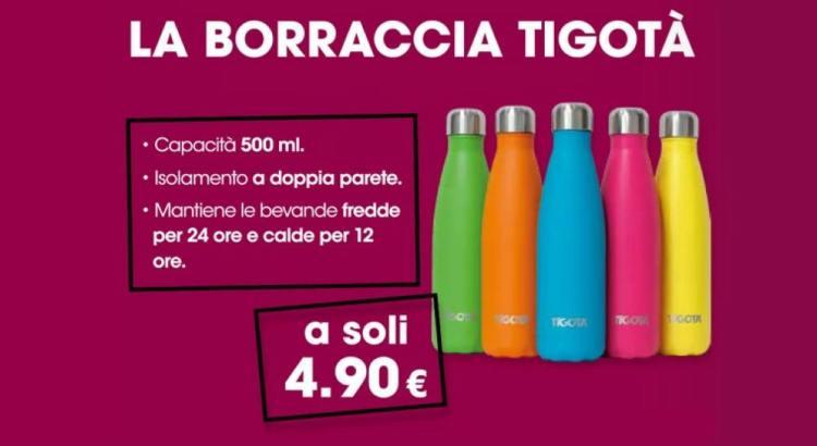 Ti serve una borraccia nuova? Corri ad approfittare dell'offerta Tigotà e portatela a casa a soli 4,90€! Ecco come acquistare una borraccia a soli 4,90€ da Tigotà