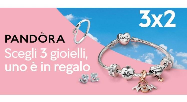 Pandora promozione 3x2 Festa della mamma