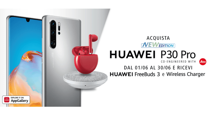 Freebuds 3 e Wireless Charger con Huawei P30 Pro New Edition