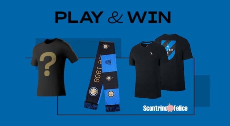 Vinci gratis sciarpa maglia t shirt ufficiale FC INTER