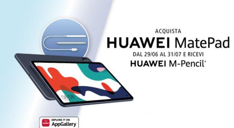 Acquista Huawei MatePad ricevi in regalo Huawei M-Pencil con ricarica Wireless