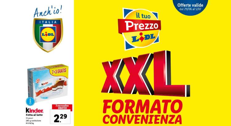 Volantino Offerte Lidl valido dal 29-06 al 05-07 2020
