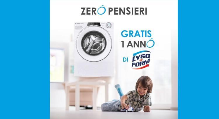 Candy Zero Pensieri fornitura 1 anno di prodotti Lysoform come premio sicuro